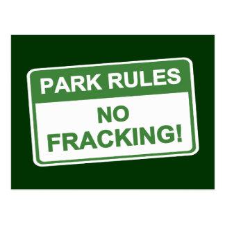 Park Rules - No Fracking Postcard