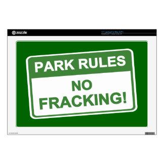 Park Rules - No Fracking Laptop Skins