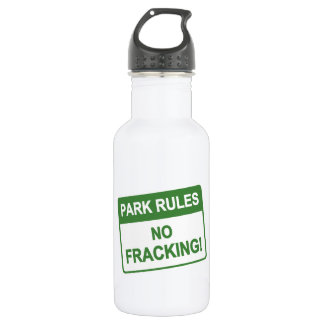 Park Rules - No Fracking Stainless Steel Water Bottle