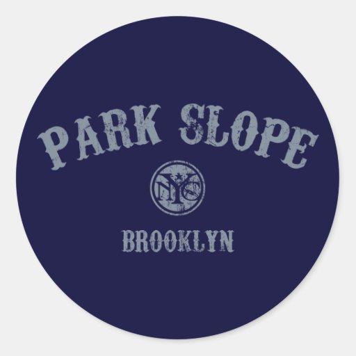 Park Slope Classic Round Sticker