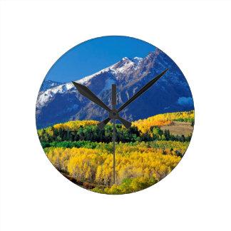 Park Sneffels Uncompahgre Forest Colorado Round Clock