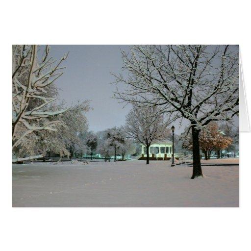 Park Snow holiday greeting card