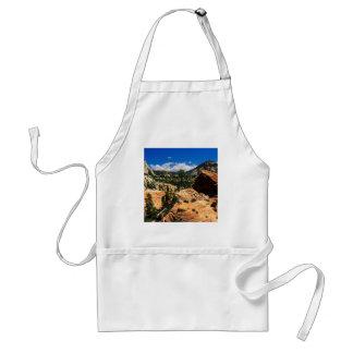 Park Swirling Sandstone Formations Zion Utah Adult Apron