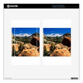 Park Swirling Sandstone Formations Zion Utah Skins For Kindle Fire
