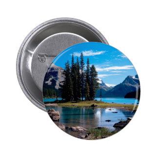 Park The Great Outdoors Jasper Alberta Canada Pinback Button