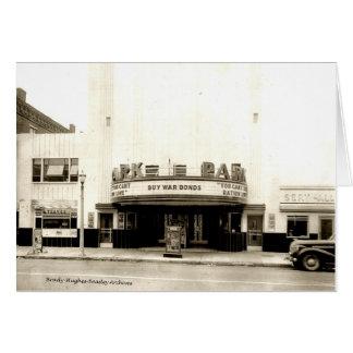 Park Theatre  World War II Card