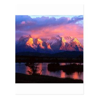 Park Torres Del Paine Serrano River Chile Post Cards