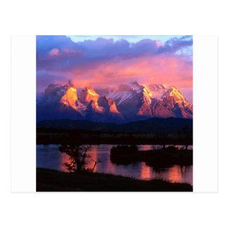 Park Torres Del Paine Serrano River Chile Postcard