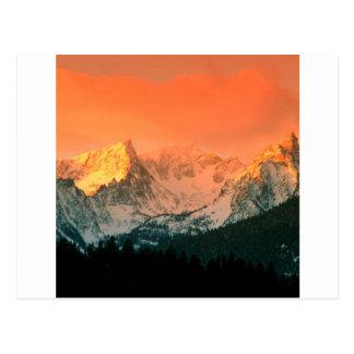 Park Trapper Peak Bitterroot Ains Montana Postcard