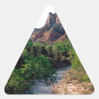 Park Virgin River The Watchman Zion Utah Triangle Sticker