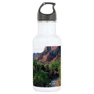 Park Virgin River The Watchman Zion Utah Water Bottle