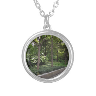 Park Walkway Silver Plated Necklace