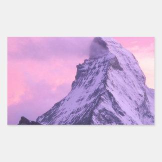 Park Wind Shear Matterhorn Switzerland Rectangular Sticker