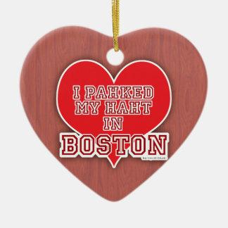 Park Your Heart Boston Love Ceramic Ornament