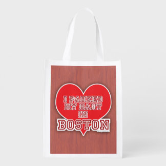 Park Your Heart in Boston Grocery Bag