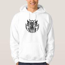 Parka of pattern of ogre hoodie