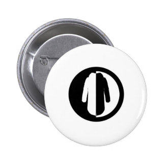 Parka Power is a cool retro mod motif Pinback Button