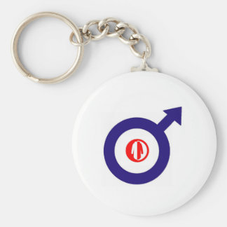 Parka Power + mod target Basic Round Button Keychain