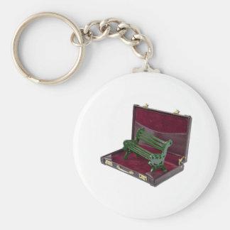 ParkBenchInBriefcase123111 Basic Round Button Keychain