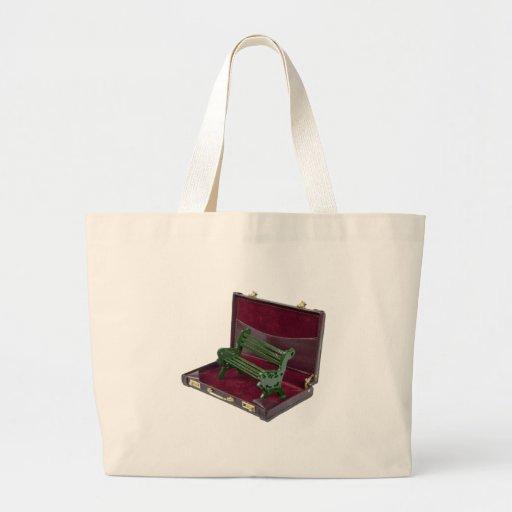 ParkBenchInBriefcase123111 Canvas Bags