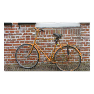 Parked Bicycle and a Brick Wall Small Photo Card Double-Sided Standard Business Cards (Pack Of 100)