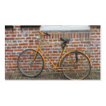 Parked Bicycle and a Brick Wall Small Photo Card Business Card