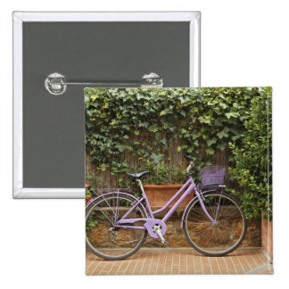 Parked bicycle, Pienza, Italy, Tuscany Pins
