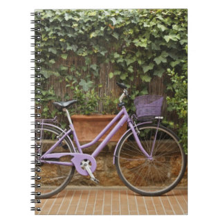 Parked bicycle, Pienza, Italy, Tuscany Notebook