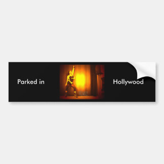 Parked in Hollywood Bumpersticker Bumper Sticker