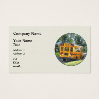 Parked School Bus Business Card