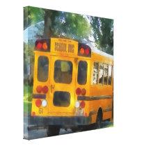 Parked School Bus Canvas Print