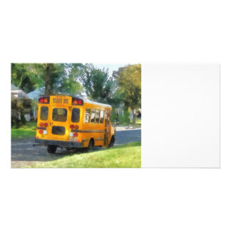 Parked School Bus Card