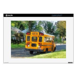Parked School Bus Laptop Skins