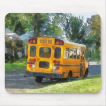 Parked School Bus Mouse Pad