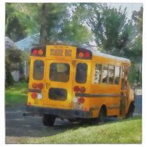 Parked School Bus Napkin