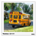 Parked School Bus Wall Skin