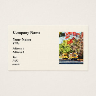 Parked School Buses Business Card