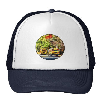 Parked School Buses Hats