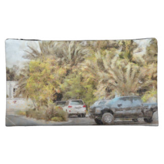Parked vehicles makeup bags