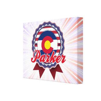 Parker, CO Stretched Canvas Print