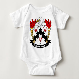 Parker Family Coat of Arms Baby Bodysuit