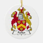 Parker Family Crest Ceramic Ornament