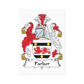Parker Family Crest Stretched Canvas Print