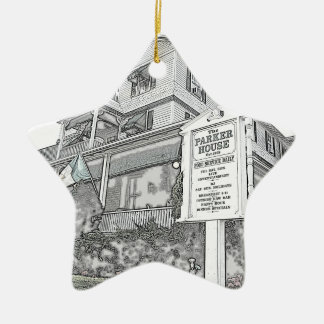 Parker House Sketch - Jersey Shore Ceramic Ornament