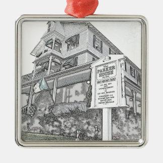 Parker House Sketch - Jersey Shore Metal Ornament