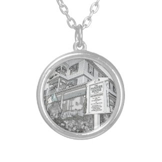 Parker House Sketch - Jersey Shore Silver Plated Necklace
