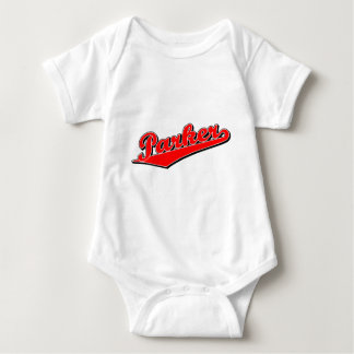 Parker in Red Baby Bodysuit
