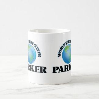 Parker más listo del mundo taza básica blanca