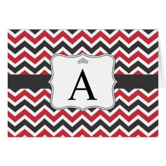 Parker Note Card - Red and Black