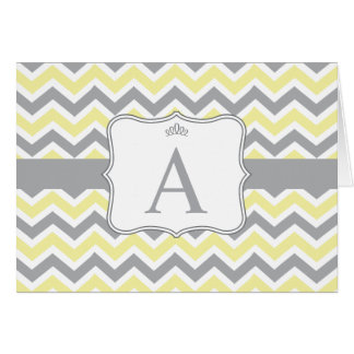 Parker Note Card - Yellow and Gray